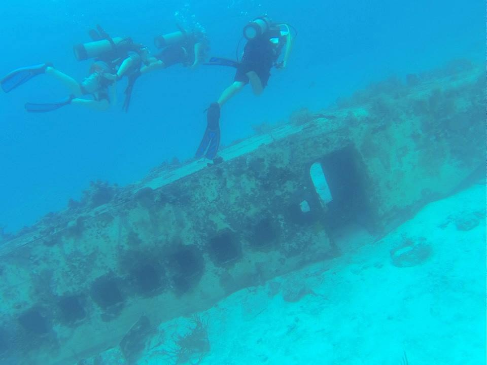 Scuba dives to sites like this were an integral part of the summer program.