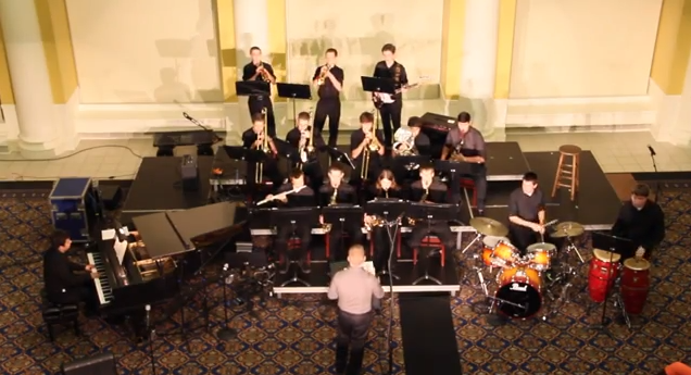 PA's Jazz Band performing at the 2013 Fall Coffee House